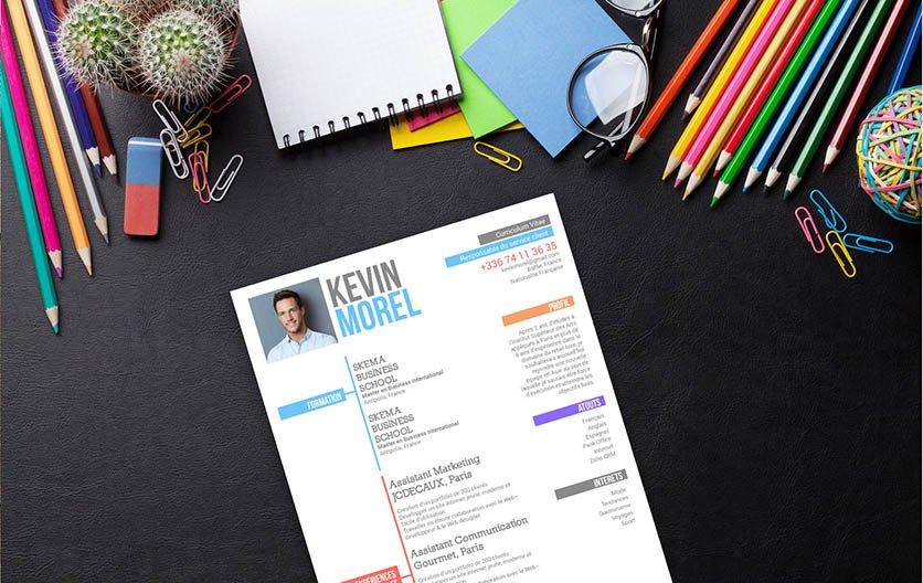 Un modèle de CV bien structuré où chaque détail est mis en page de manière ordonnée.
