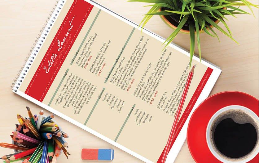 Un modèle de CV aux couleurs vives pour surprendre et attirer l'attention du recruteur.