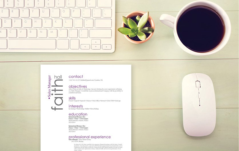 A great resume template to help you present your great job qualifcations