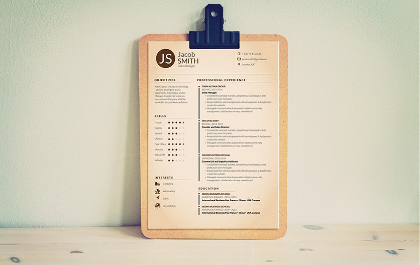 This resume template has an original design made to impress all hiring managers in every job sector