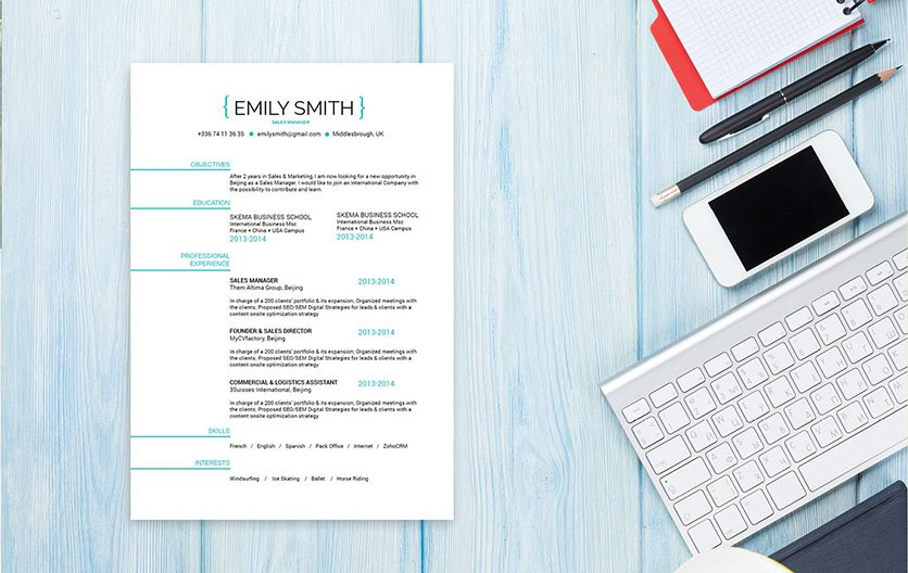 A design that simple puts a smile on your face -- definetely a good resume template to work with!