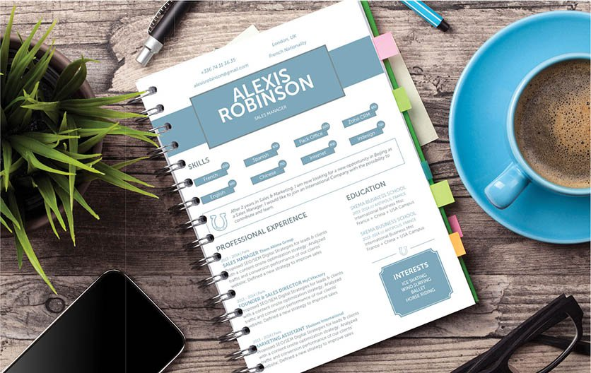 A simple resume format with crisp and modern design for all job types