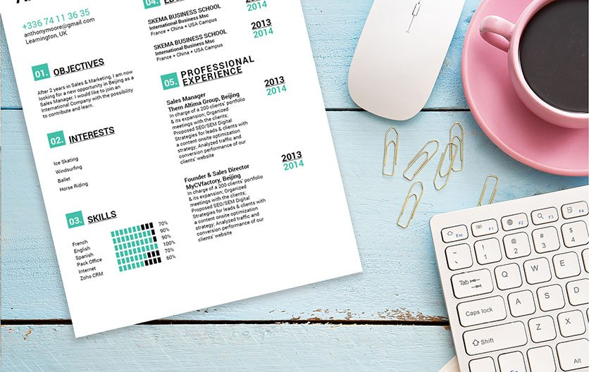 An easy resume template to help you create that perfect CV