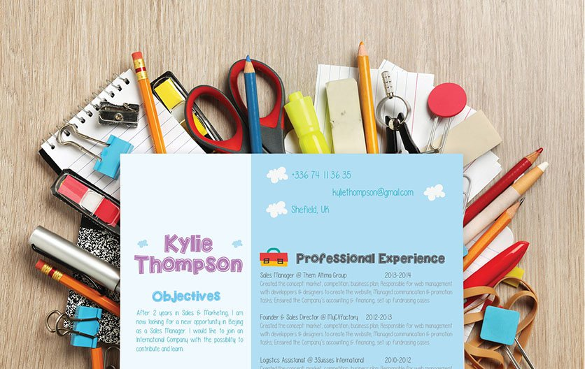 Colors and style make this teacher resume template an ideal choice for an educator