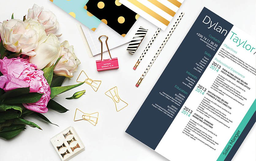 The sidebar in this resume template allows for an easier and more creatie read