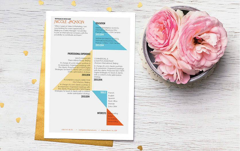 This traditional resume template format lays out all the essential parts of your resume perfectly