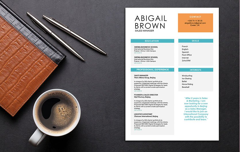 This simple resume format has a functional presentation of your best qualities!