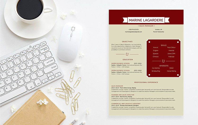 A simple resume that weighs heavily with effectivety and functionality