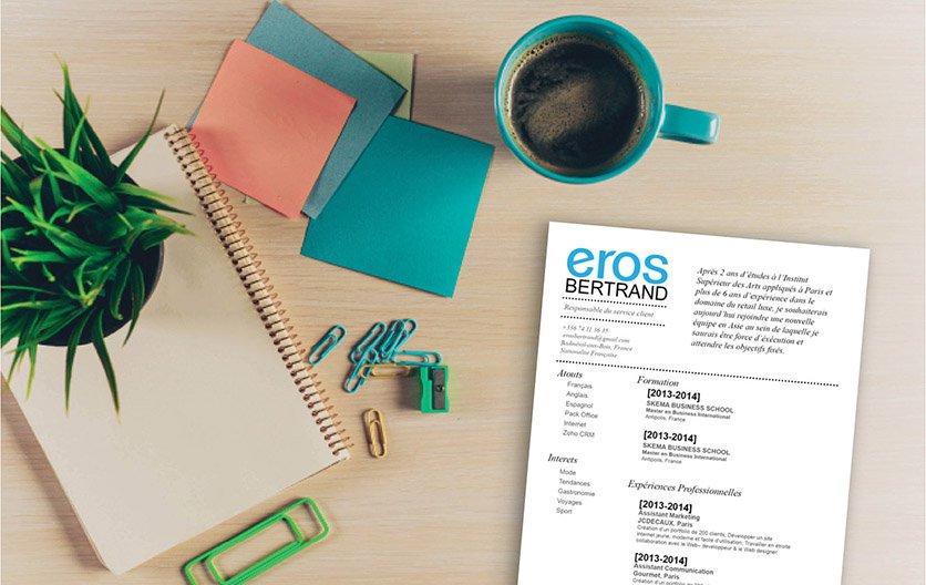 Un CV misant sur la neutralité et une présentation simple mais avec des informations complètes pour se distinguer.