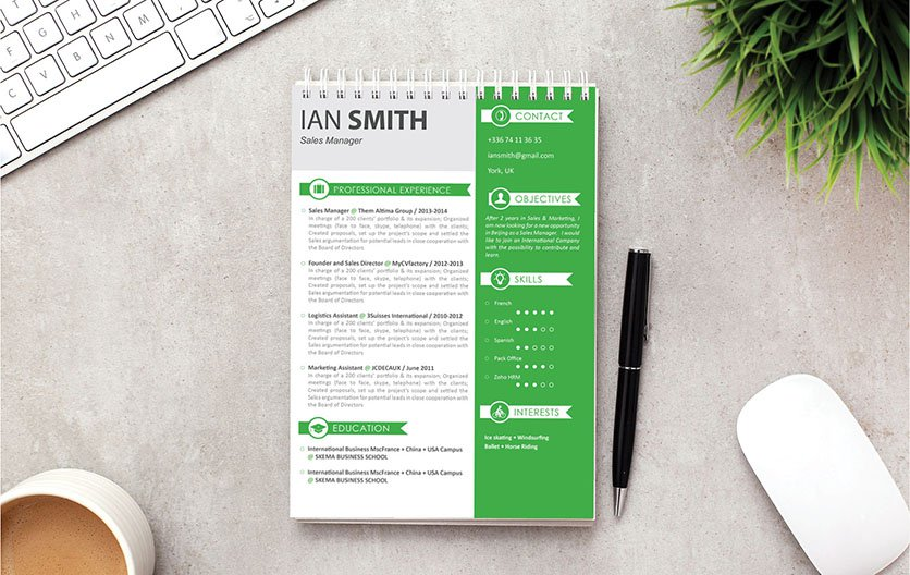 Need a great CV design? Then choose this good resume template