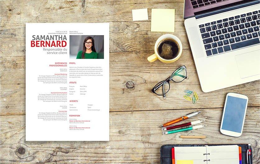 Un CV usant de gris, de pastel et de colonnes pour que le recruteur puisse facilement retrouver chaque information du candidat.