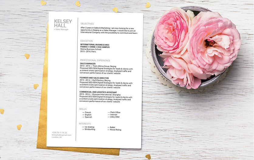 This simple resume tempalte has an effecient design that is sure to make you stand out