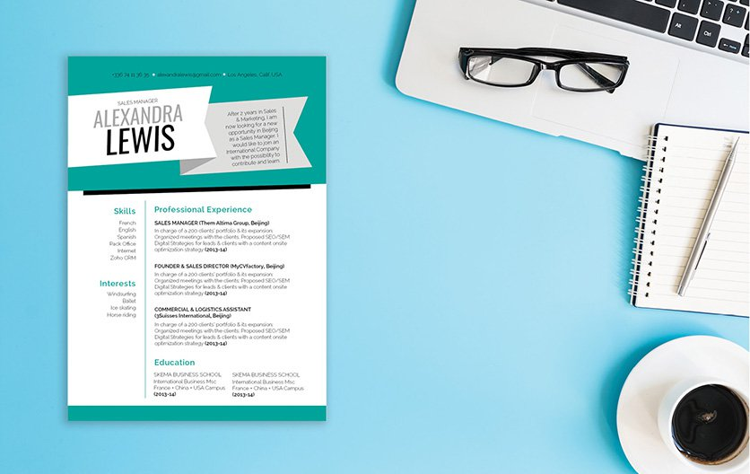 Simple, yet creative -- a resume template for the modern work age!
