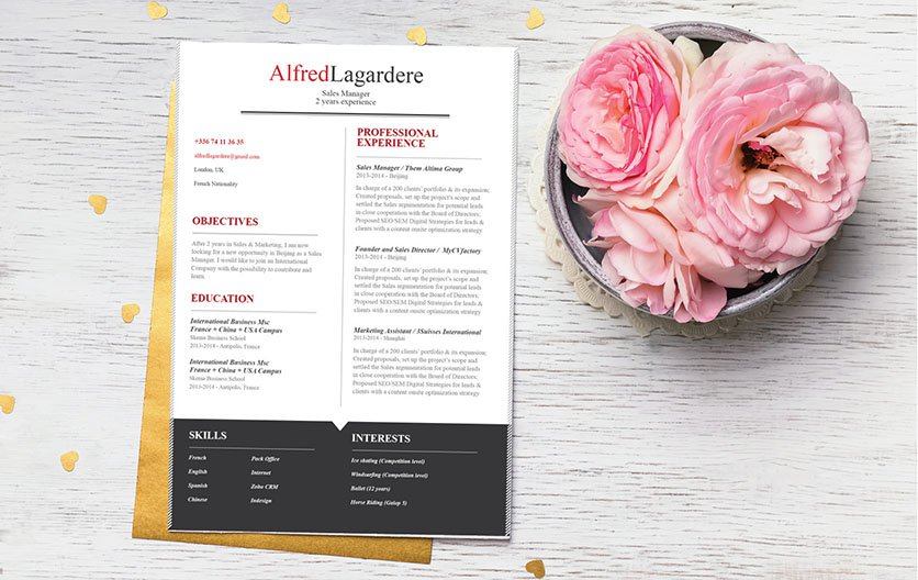 A comprehensive and functional approach in this simple resume template