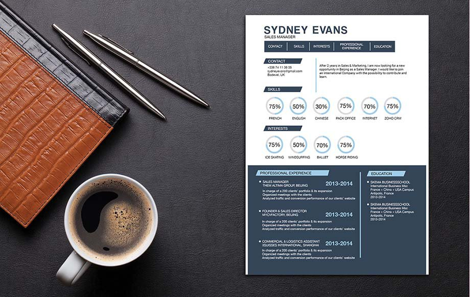 A simple resume template that has the perfect functional design to help you land that dream job