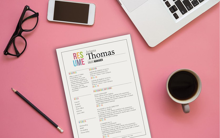 A light design modern resume template to create the functional resume you need!