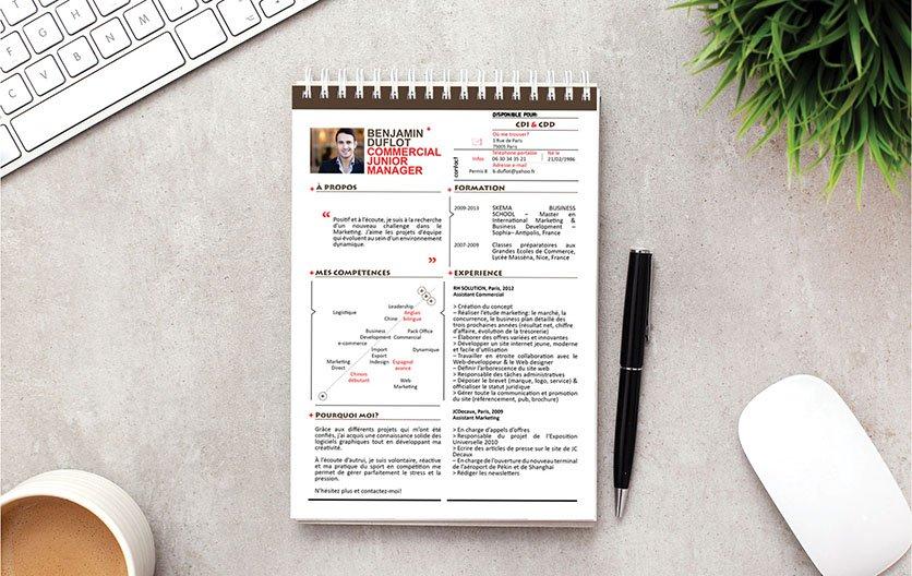 Un modèle de CV facile à lire grâce à un contenu bien élaboré