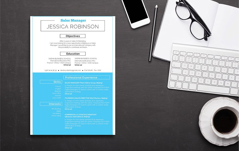 The perfect functional resume template to get you hired! Clear and clean.