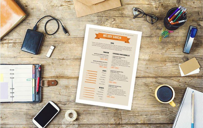 Un CV à la fois design, créatif et professionnel pour une candidature sortant du lot.