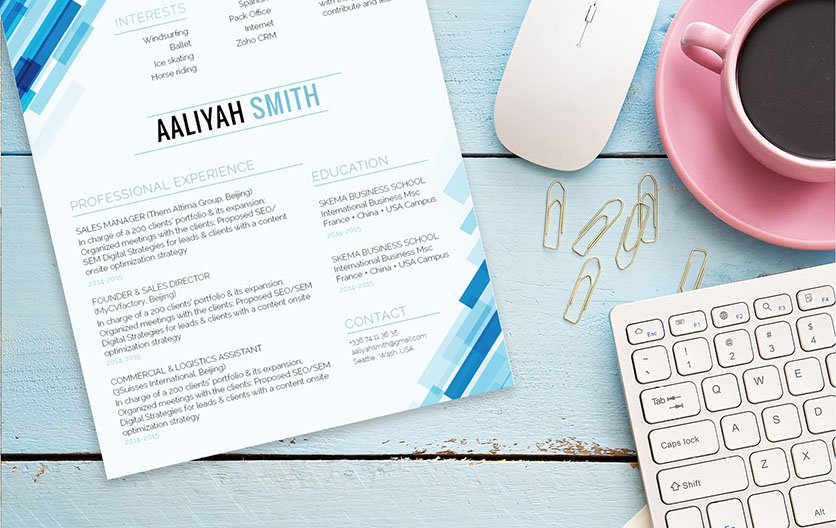One of the best modern resume template online -- clear and concise with no added fus!
