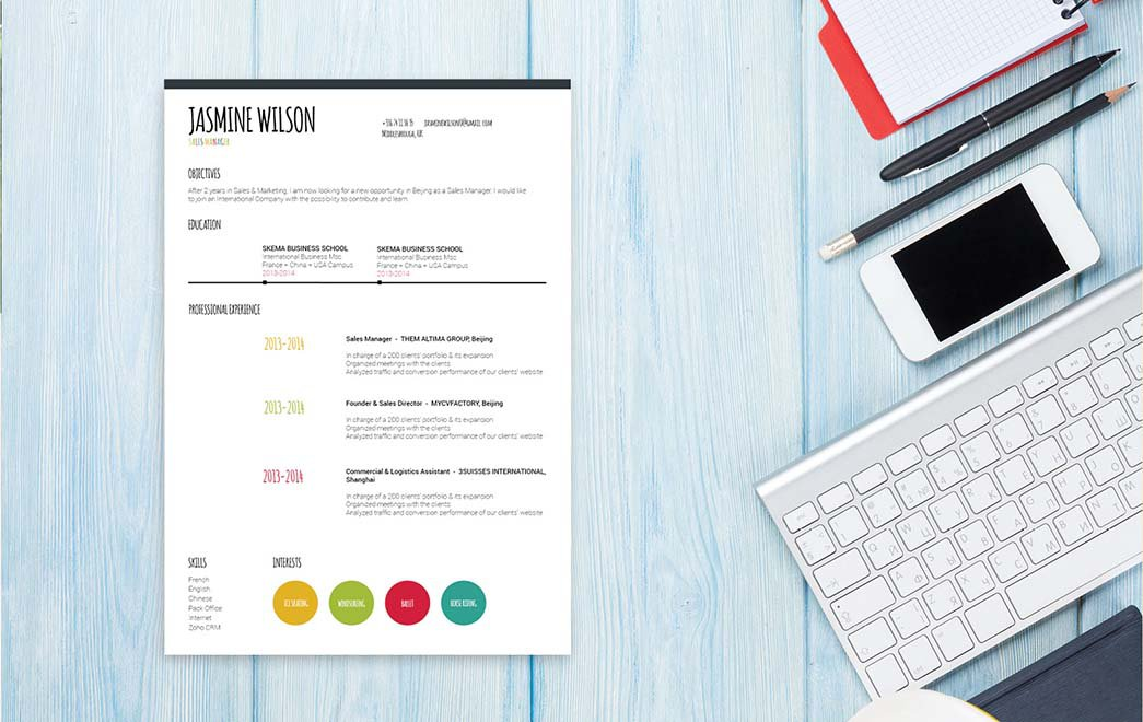 This professional resume template is a perfect fit for the digital age