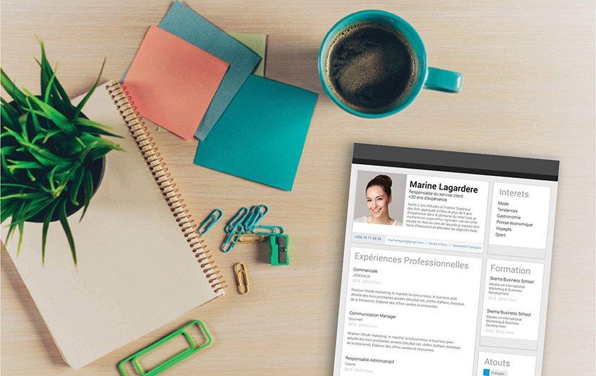Un modèle de CV mettant d'emblée en avant les atouts professionnels du candidat.