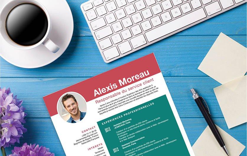 Un modèle de CV créatif et savamment mis en page d'une manière originale.