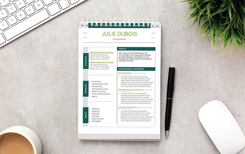 A CV format made for the modern work age, your recruiters will love this!