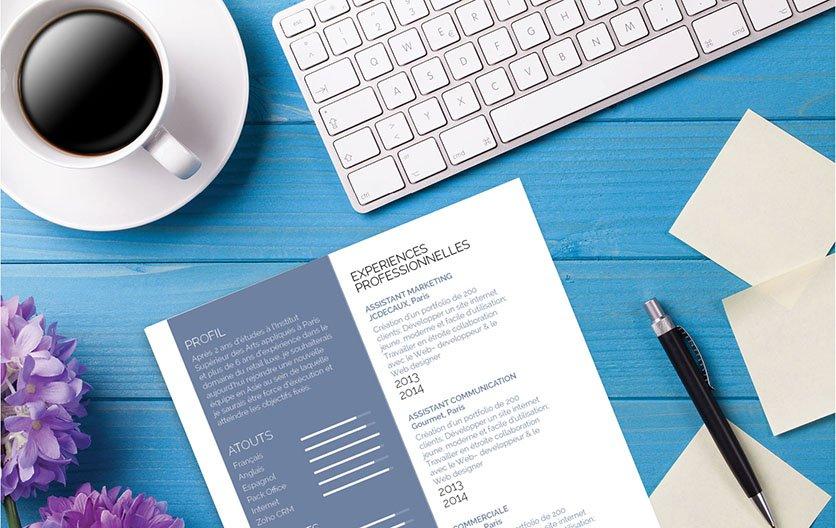 Un CV template persuasif et décrivant ingénieusement le profil du candidat