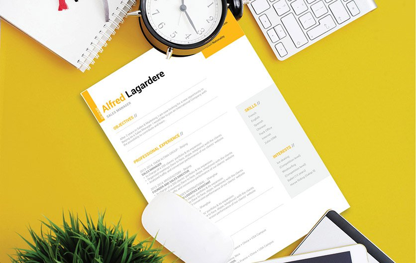 Styles and headings make this simple resume format great!
