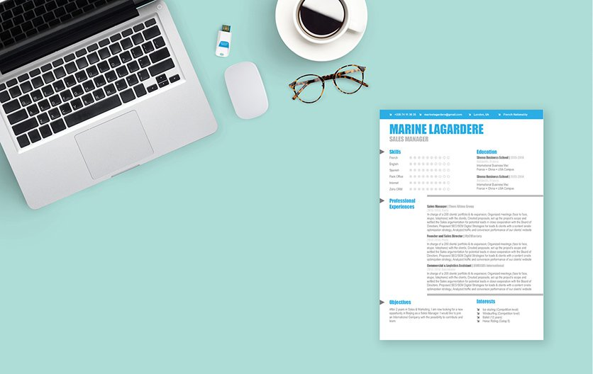 An attention-grabbing professional template perfect for any job type
