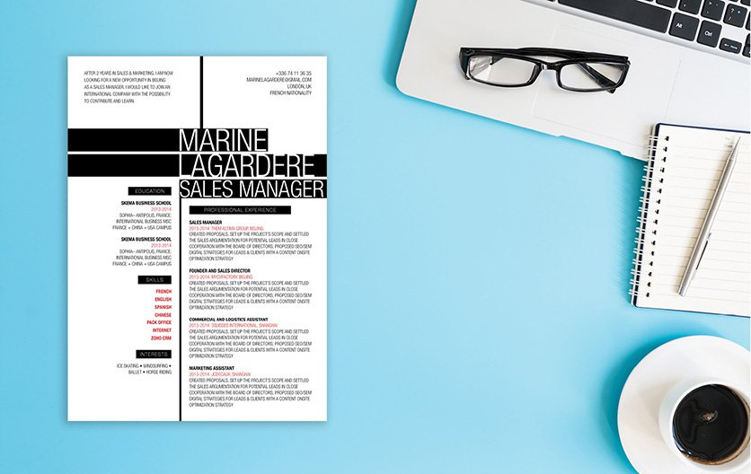 A versatile CV format that is applicable for all job types