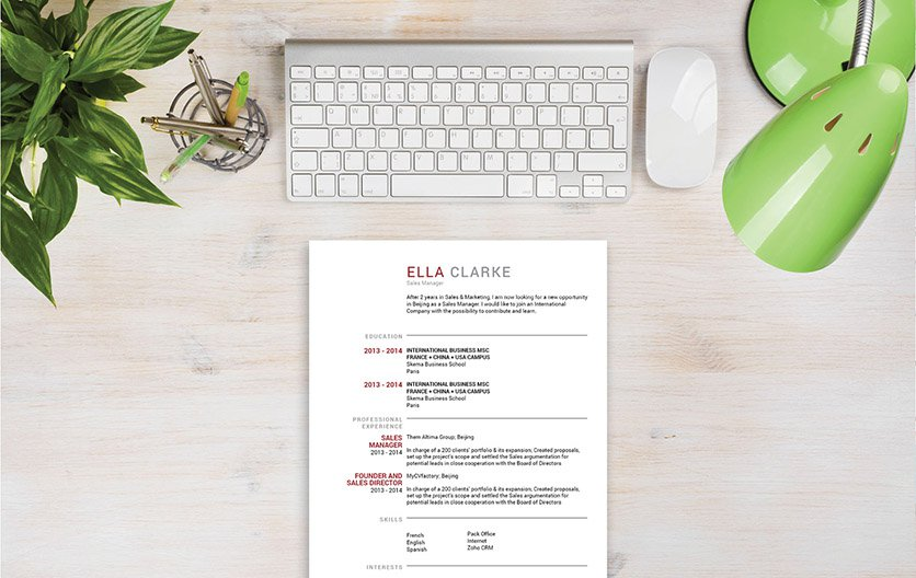 This professional template comes with a modern and  creative design for all job types