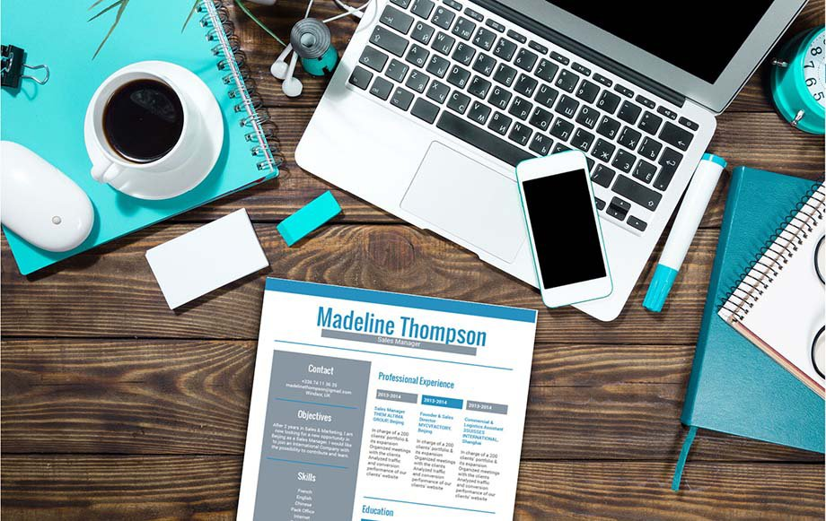 A resume template with a postive design that is sure to grab the attention of your recruiter