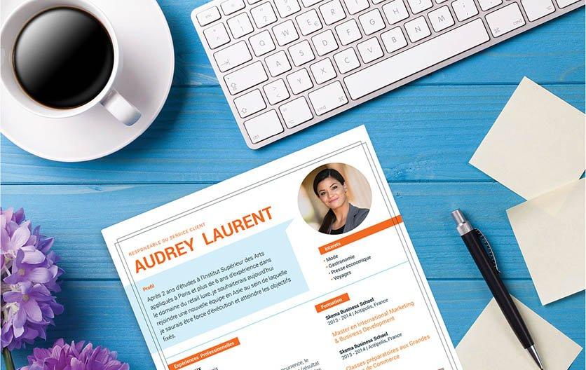 Un CV créatif et design, dévoilant le sens du détail et logique du candidat.