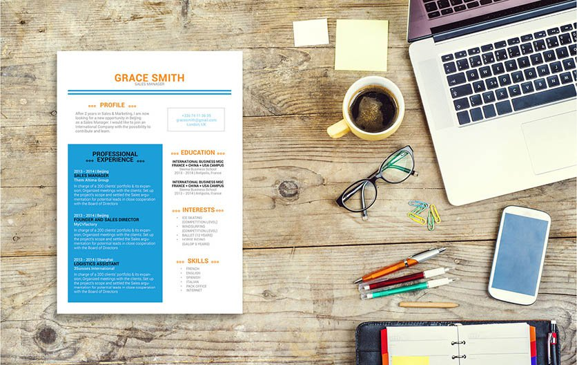 A work resume template with a superb design and format
