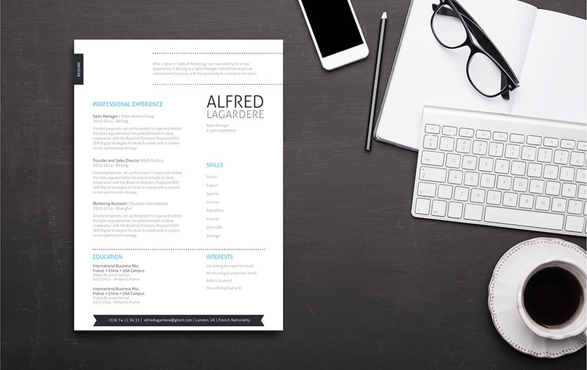 A good resume is what you need to land that dream job, and you'll find it in this resume template!