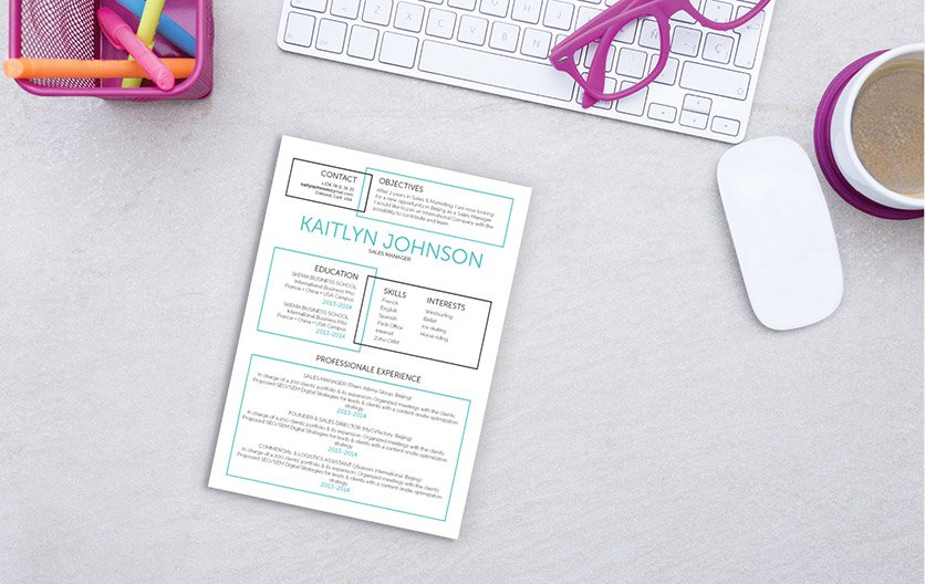 Simple and creative! A great resume template to help you build the perfect CV