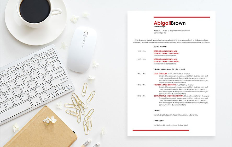 The presentation in this resume template makes for a great resume in any sector