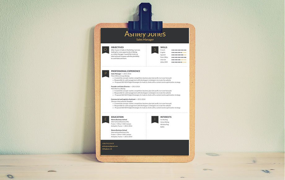 This simple resume format has a clear and subtle design that is perfectly fitted for the modern worker