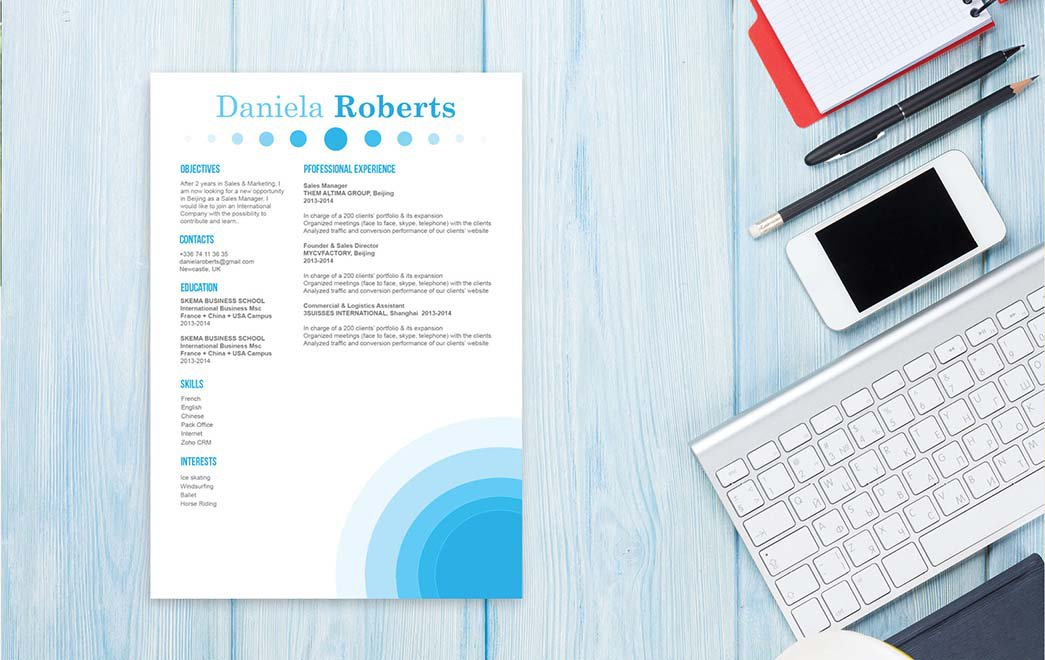 Impress your future boss with this resume template!