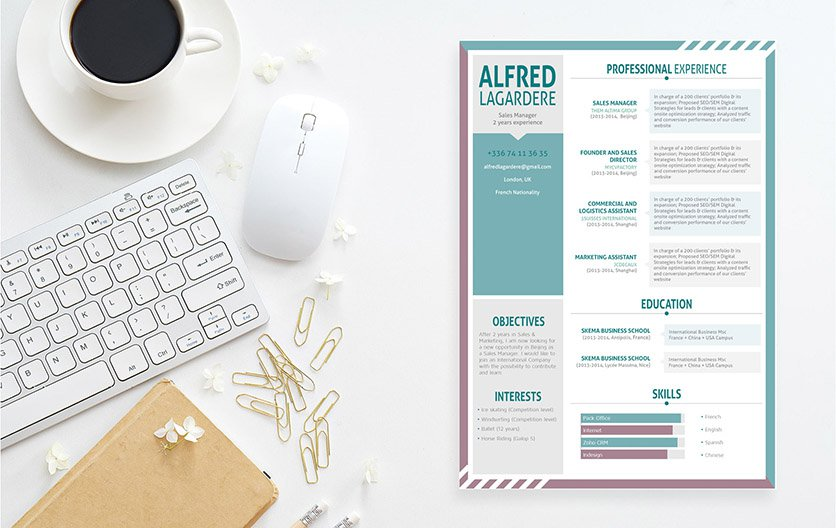 A motivated professional resume template that will get you that dream job