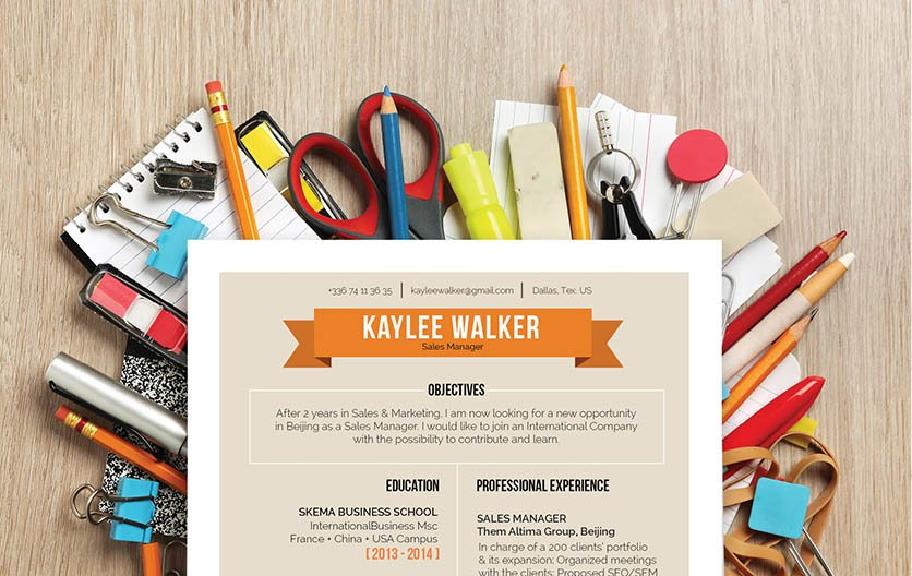 This resume template has a unique design that brings about the best in any canddiate!