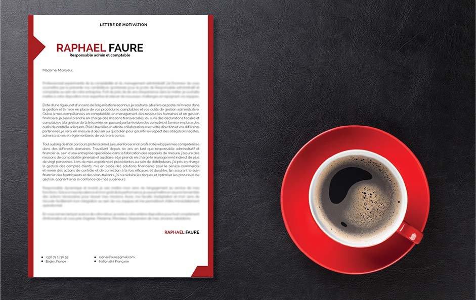 Un modèle de lettre de motivation design et professionnel pour impressionner le recruteur.