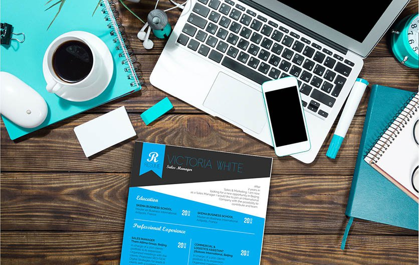 This resume template features a rigorous design makde for the modern worker!