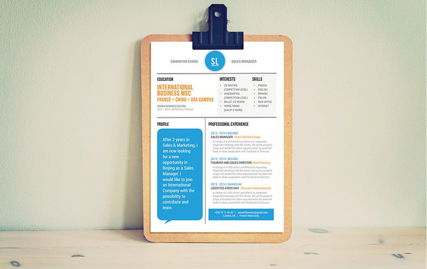 The best resume format out there! A great design and clean format
