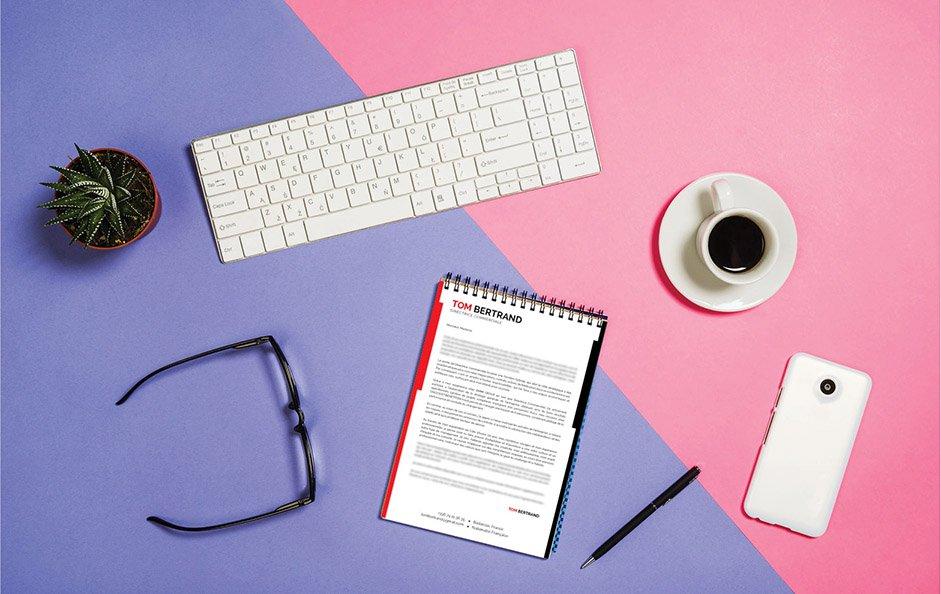 Une lettre de motivation à la fois élégante et professionnelle pour attirer l'attention du recruteur.