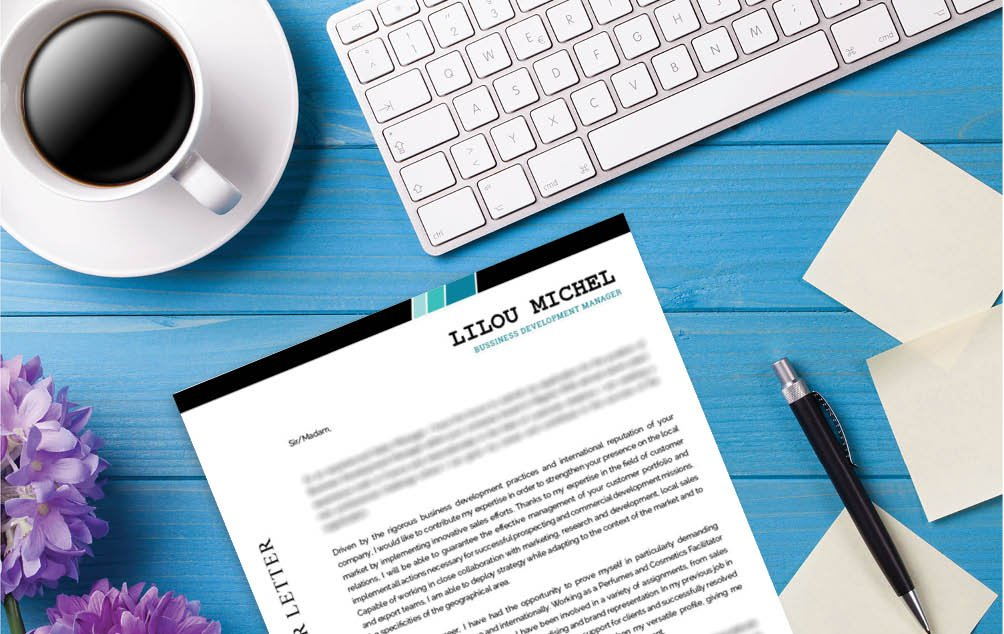 A simple and clean look. A  cover letter format that is perfect