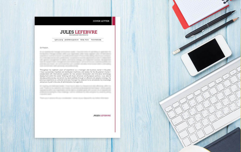 A great mix of cretivity and functionality lends this  cover letter template a great design