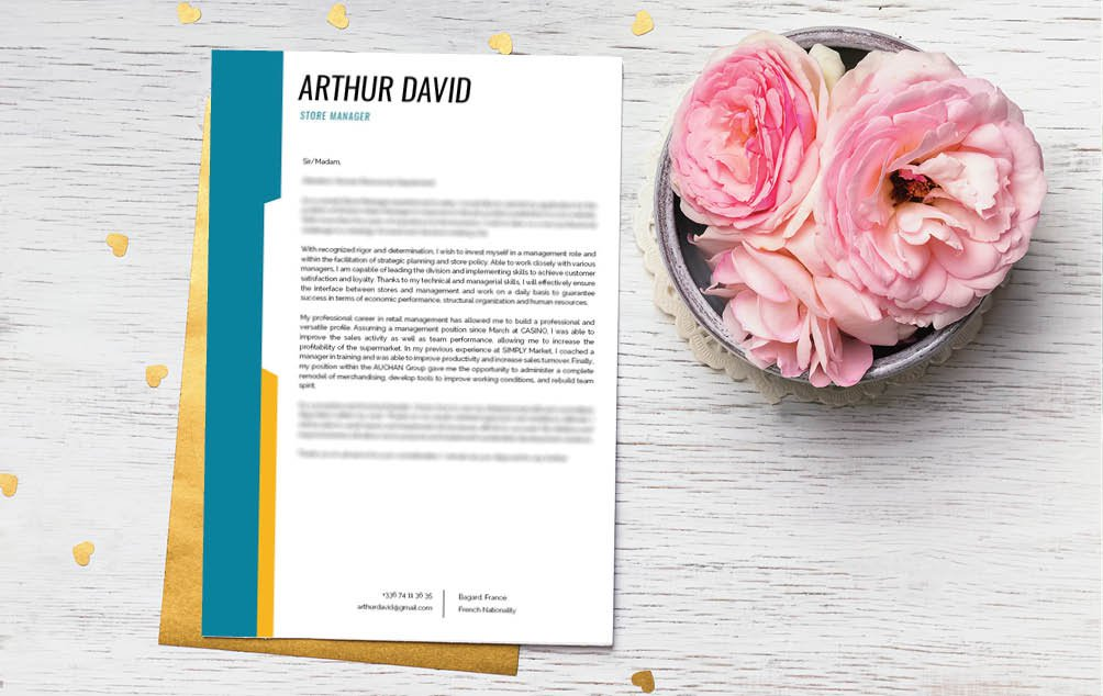 This custom  cover letter has everything you need in a good cover letter